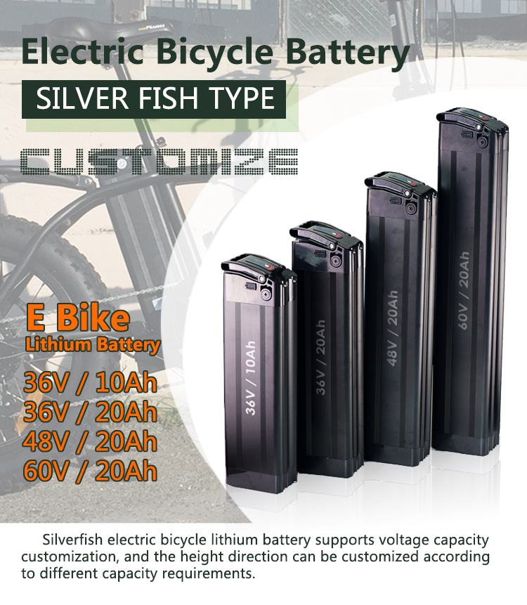 Customized Rechargeable Lithium 18650 36V 15AH Electric Bike Battery