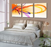 Fashion abstract painting 3 panels canvas art