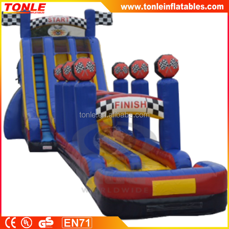 bounce round inflatable water slide, inflatale plastic slide for kids