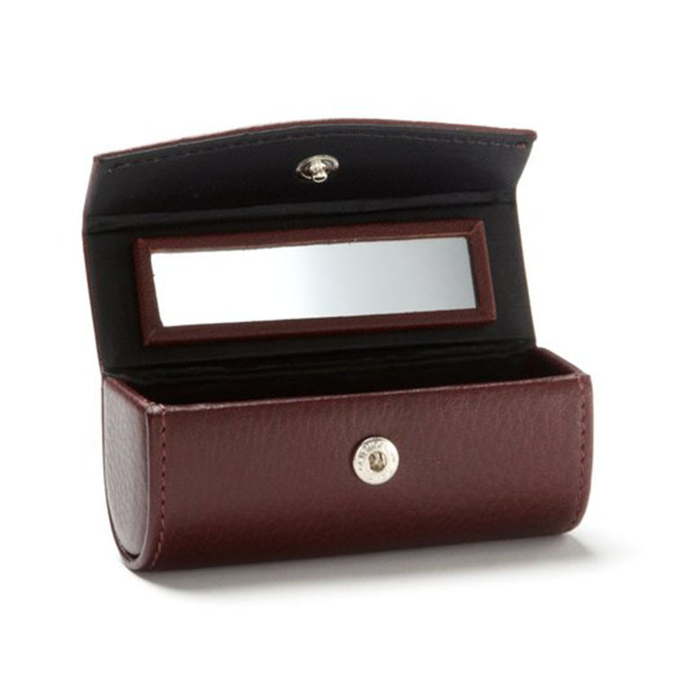 New Arrival Fashion Lipstick Holder With Mirror Pu Leather