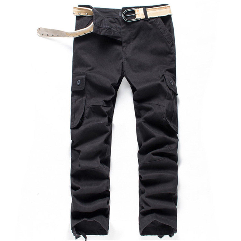 Ivan Johns Pants Summer Style Top Fashion Clothing Solid Mens Cargo Pants Cotton Plus Size Men Trousers Joggers