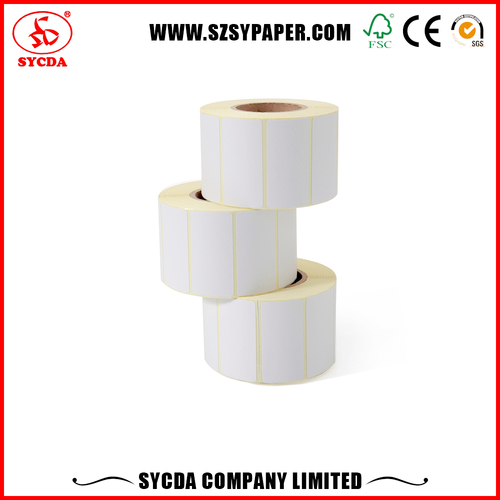 Factory price white laser printing lables tags thermal label rolls