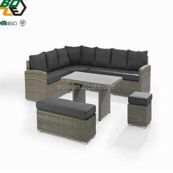 Garden Line Furniture Wicker Sectional Corner Outdoor Sofa Rattan Furniture  Sofa Set