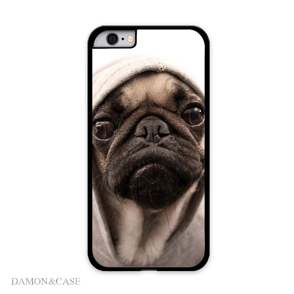 buy online 178fd c48e9 Lovely Fashion Cute Pug Puppy Cell Phone Cases For iPhone 5S 6 Plus Covers  For Samsung Galaxy S4 S5 Mini S6 Case For SONY L39H