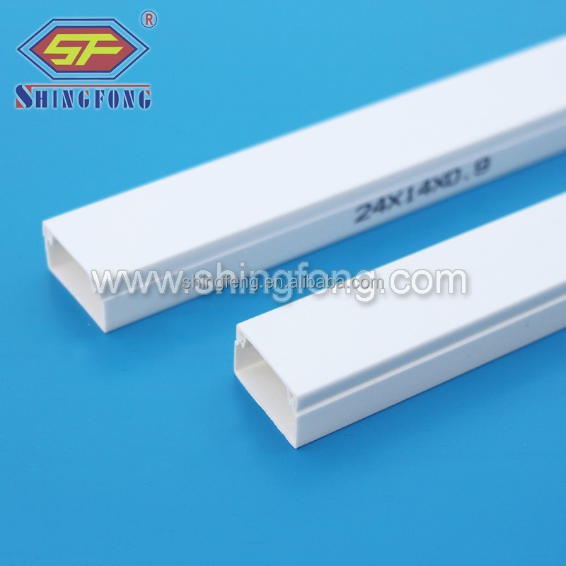 White Pvc Trunking Cable Electrical Wire Casing Size - Buy Pvc Wire ...