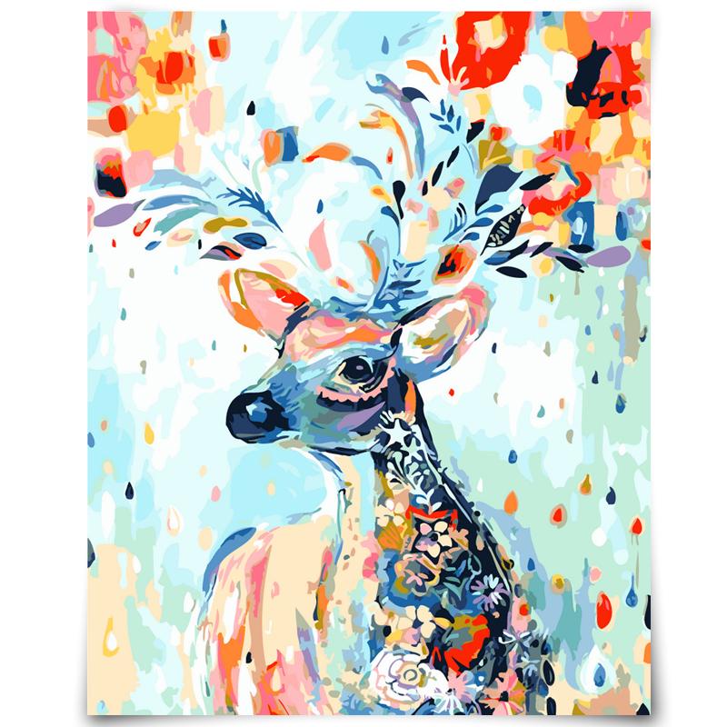 Compra pintura ciervos online al por mayor de China