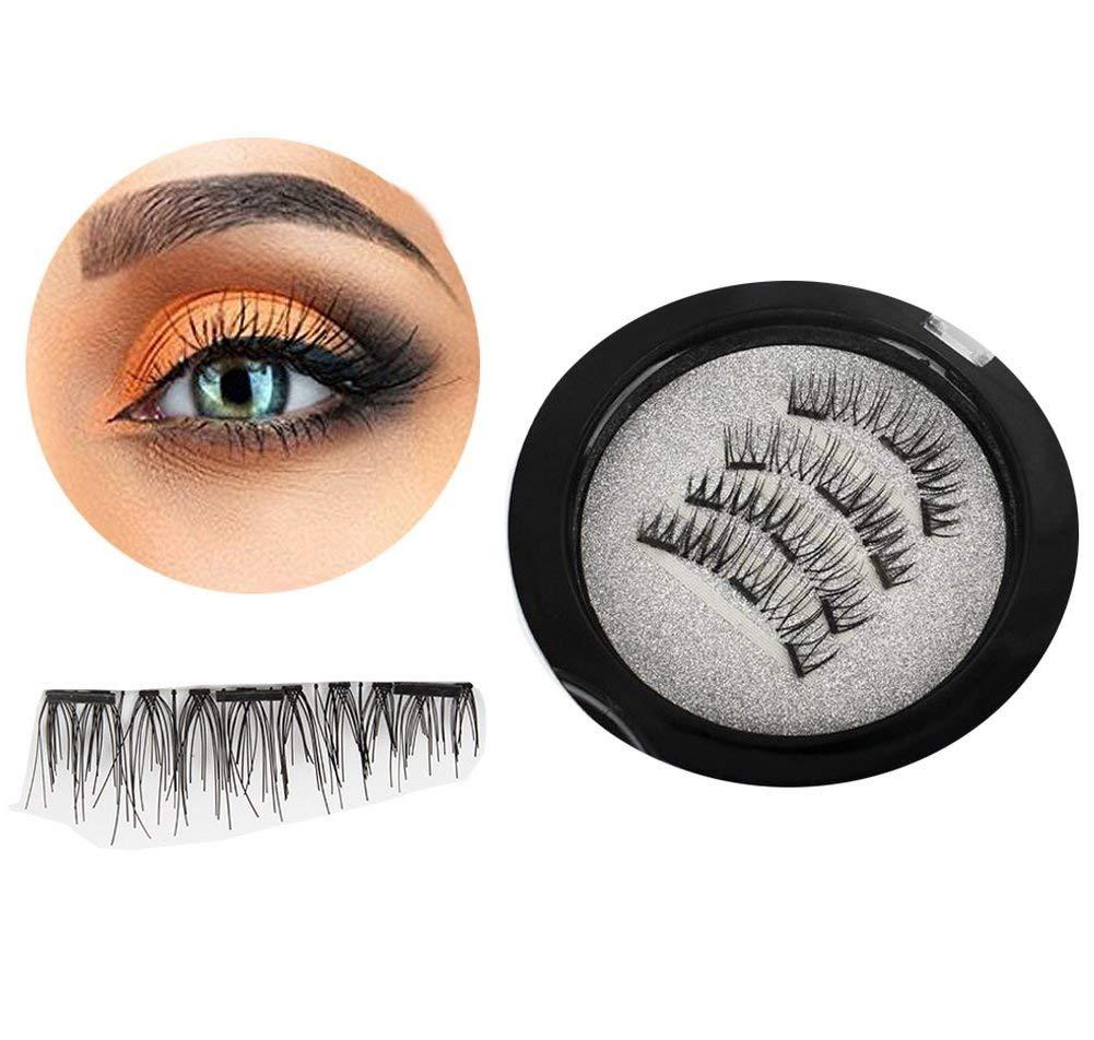 c3f55fcc10e Piero Lorenzo 100% N... Get Quotations · Foucome Magnetic Eyelashes, Magnetic  False Eyelashes with 3 Magenet 3D Longer & Thicker Glamorous,