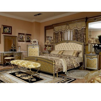 Yb16 Royal Luxury Italy King Size Master Solid Wood Bedroom