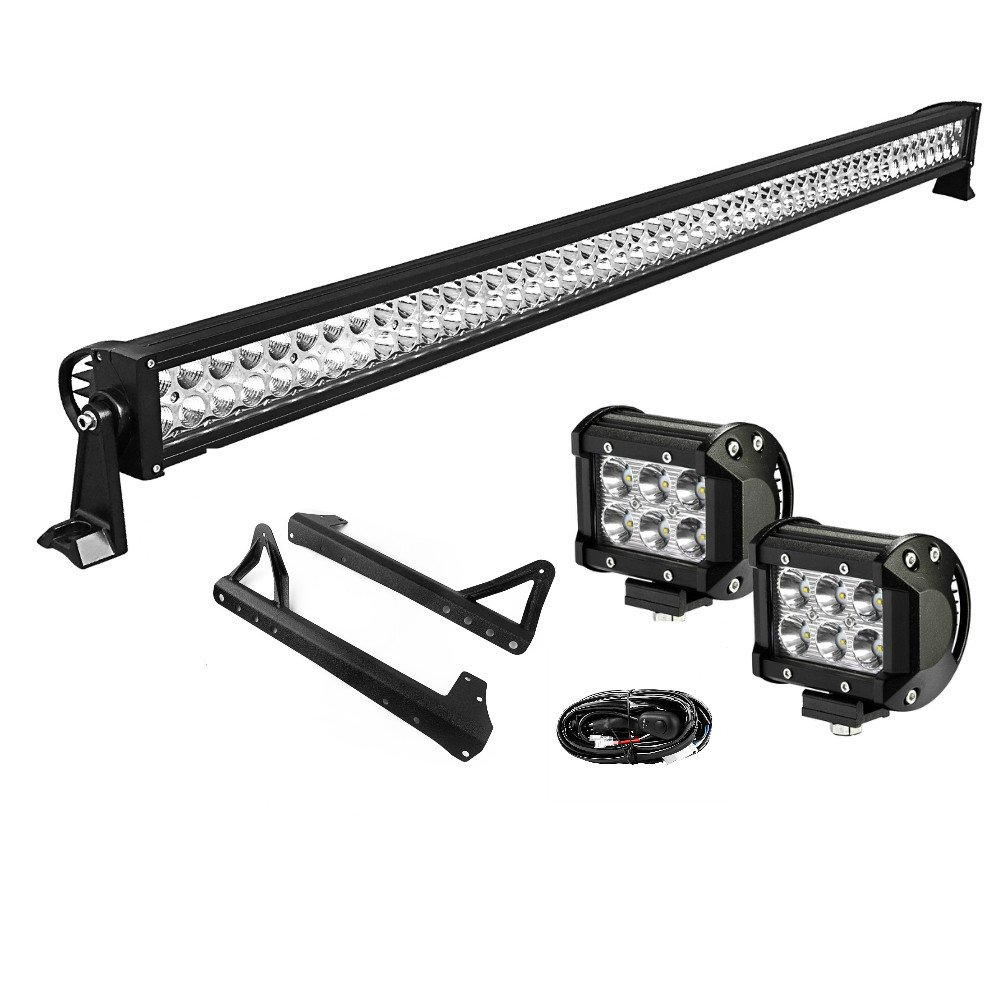 Cheap Wrangler Led Light Bar Find Deals On 50 Inch Wiring Harness Get Quotations Yitamotor Combo 2 X 4 18w Spot