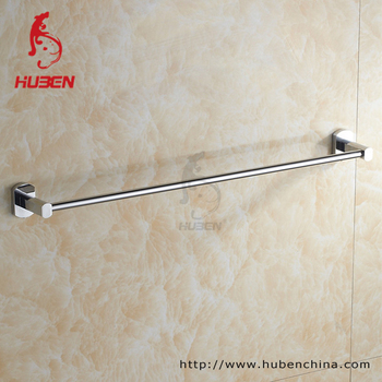 Wall Mounted 24 Single Towel Bar Bracket Chrome