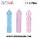 Three Colors TPE Spike Cover Shape Fashionable Unique Soft Delay Crystal Penis Sleeve Textured Extension Condoms