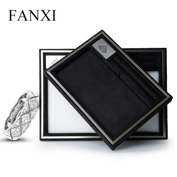 Fanxi 2017 Removable Necklace Pad Jewellery Organizer Tray Metal