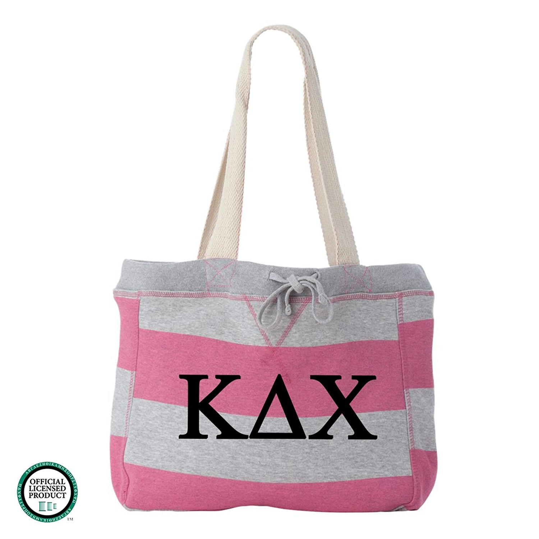 Kappa Delta Chi Striped Beachcomber Tote Bag
