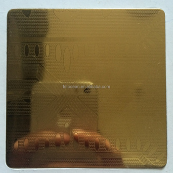 ASTM A240/480 201/304/316 GOLD ETCHED STAINLESS STEEL SHEET FOR LUXURIOUS DECORATION