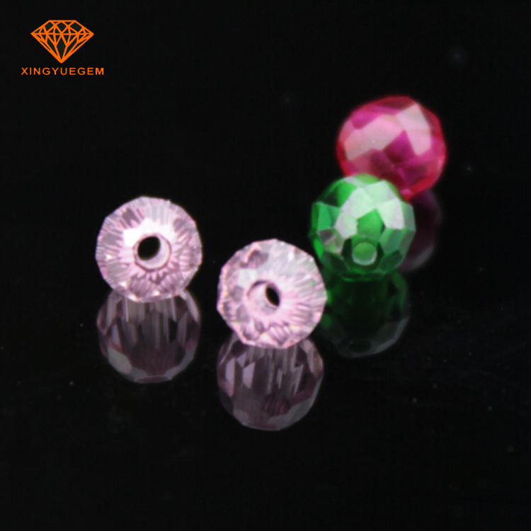 AAAAA 4mm Round shape Facted beads Corundum Synthetic Ruby bead for Jewelry making