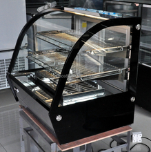 Back sliding door chocolate hot showcase table top design +40~+50 degrees