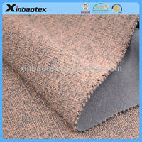 fashion fabric Sweater fabric bonded with 100D/144F fleece