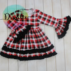 Dolike top selling clothing fancy color baby ruffle dress smocked children fall winter dresses wholesale