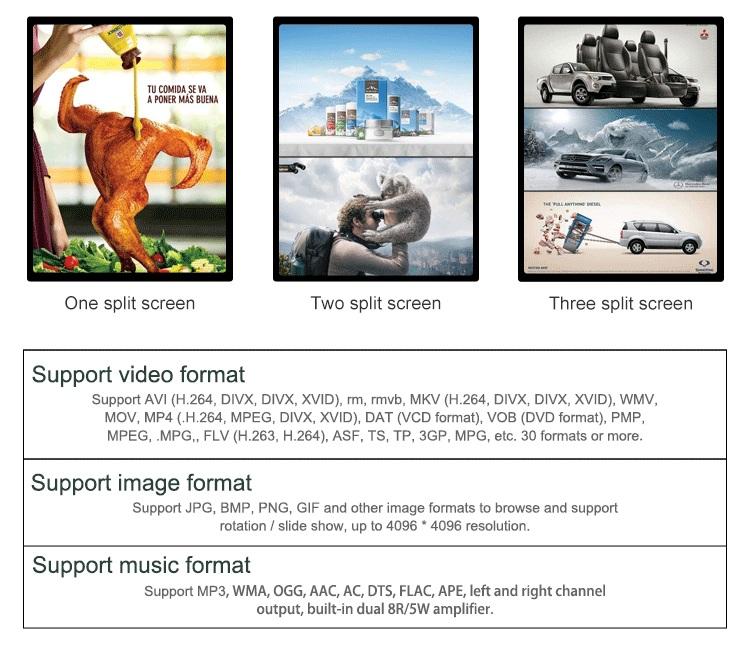 Ychd 48 polegadas suporte de chão mais vendido toque digital signage player publicidade
