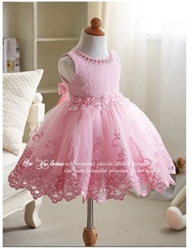 2017 baby boutique clothing girls puffy pink princess wedding dress 2017 baby boutique clothing girls puffy pink princess wedding dress hand embroidery flower designs for 3 mightylinksfo