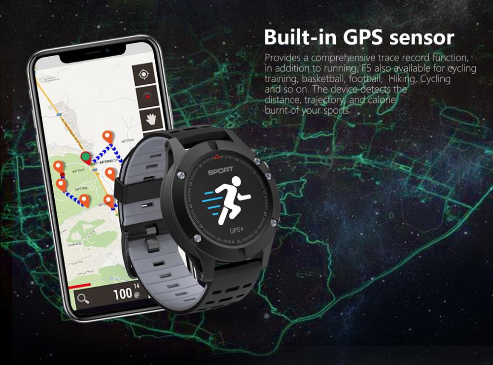 F5 Built-in GPS Smart Watch 2018 silicona relojes de mujer watch Puls Heart Rate Monitor Relogio Smart Bracelet Amazon hot