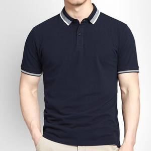 100% cotton 180g men blank plain polo shirt custom polo t shirt wholesale
