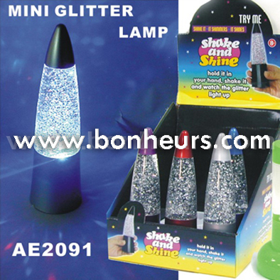 New Novelty Toy Shake Shine Liquid Lamp Glitter Night Light