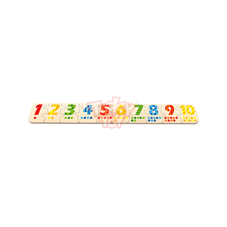 2019 High Quality Children Play Wooden Number Puzzle
