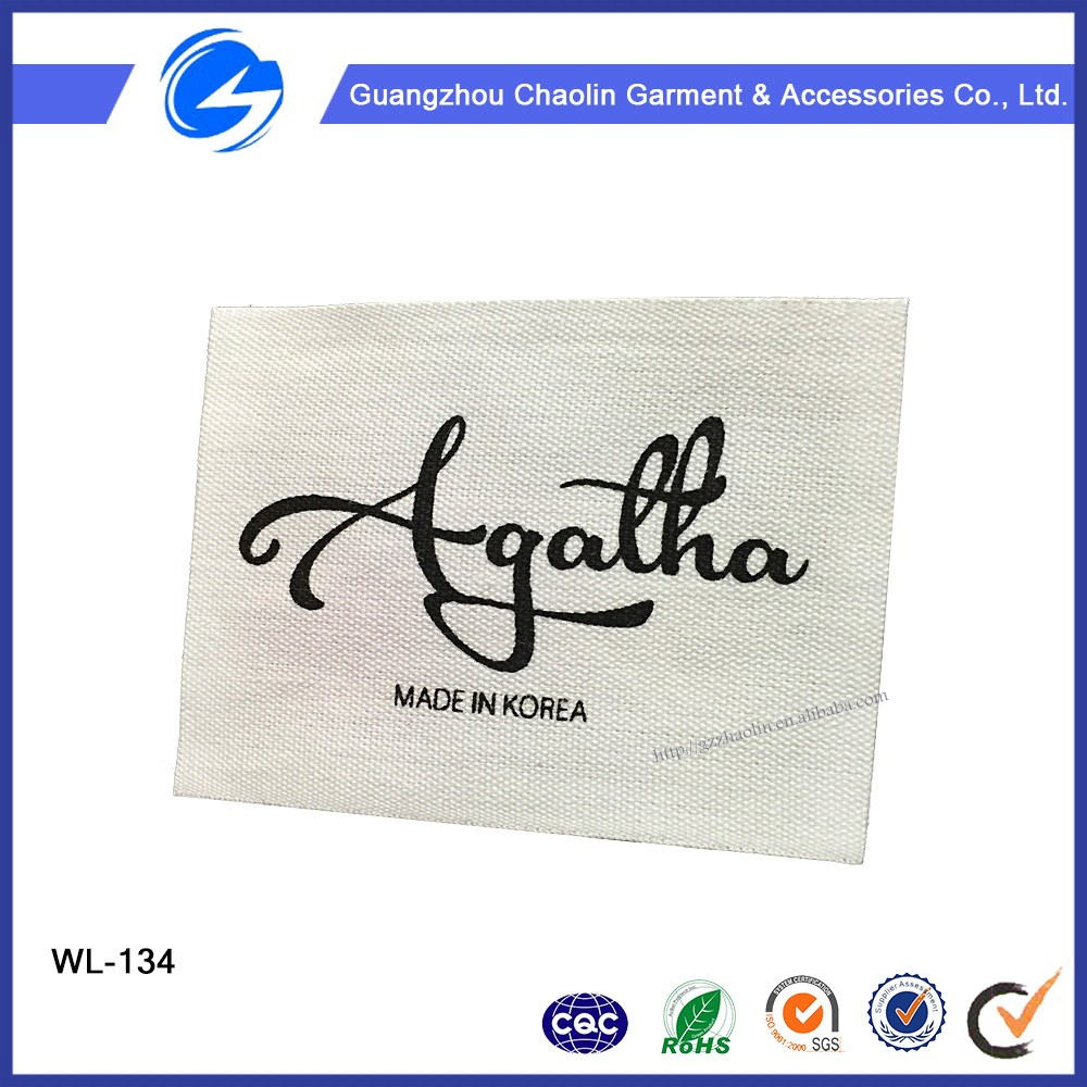 High quality logo broad loom custom woven labels for clothes accessories