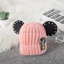 Hot Sale Baby Boy Girls Cute Warm Knit Hat Toddler Kid Winter cotton Beanie Cap