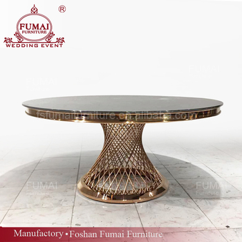 Modern Wedding Banquet Round Gl Dining Table 8 Seaters Mirrored Room