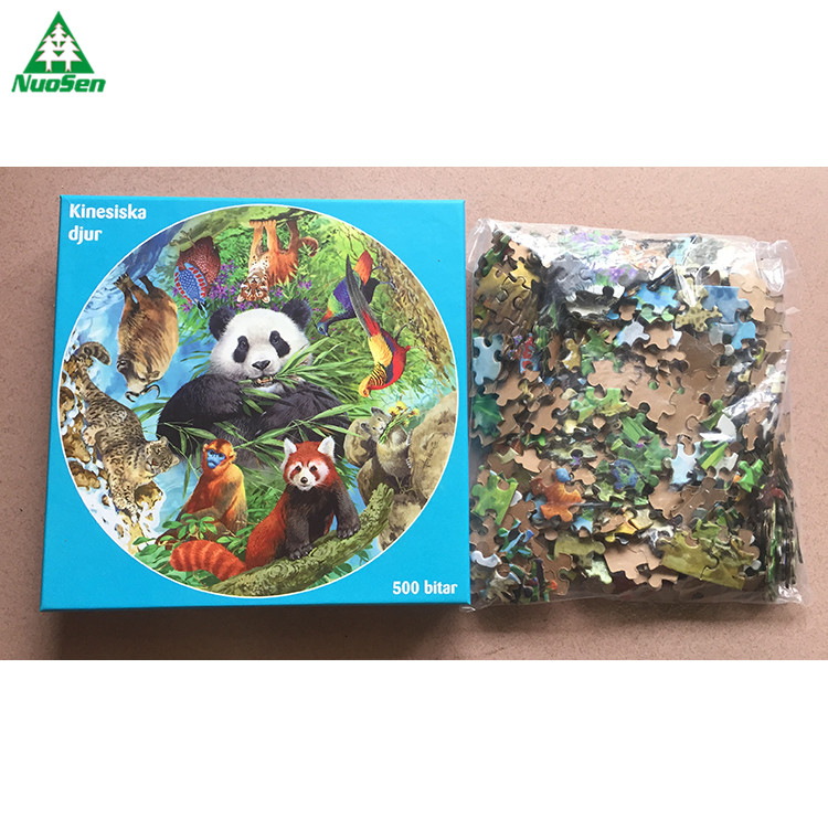 Best selling adult custom Box Packing 500 PIECES paper cardboard jigsaw puzzle