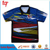 Authentic Pinstripe Motorcycle Jersey Custom Design /Sublimated Motor Polo Shirts /Auto Racing Team Wear