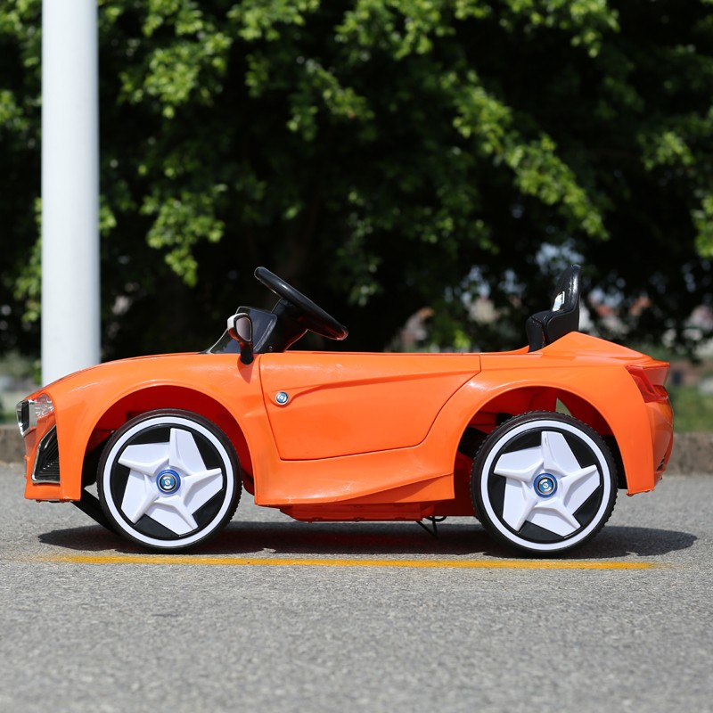 Two motors 12V battery operated electric ride on toy cars for kids Orange