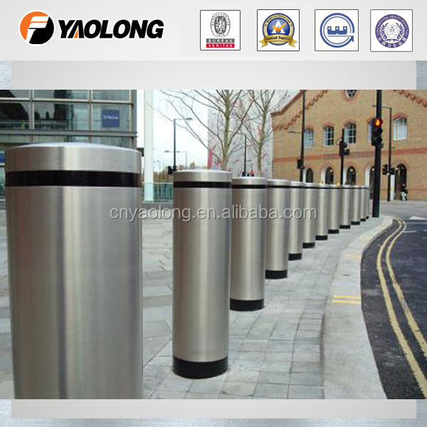 abu dhabi country logo stainless steel decorative bollard and