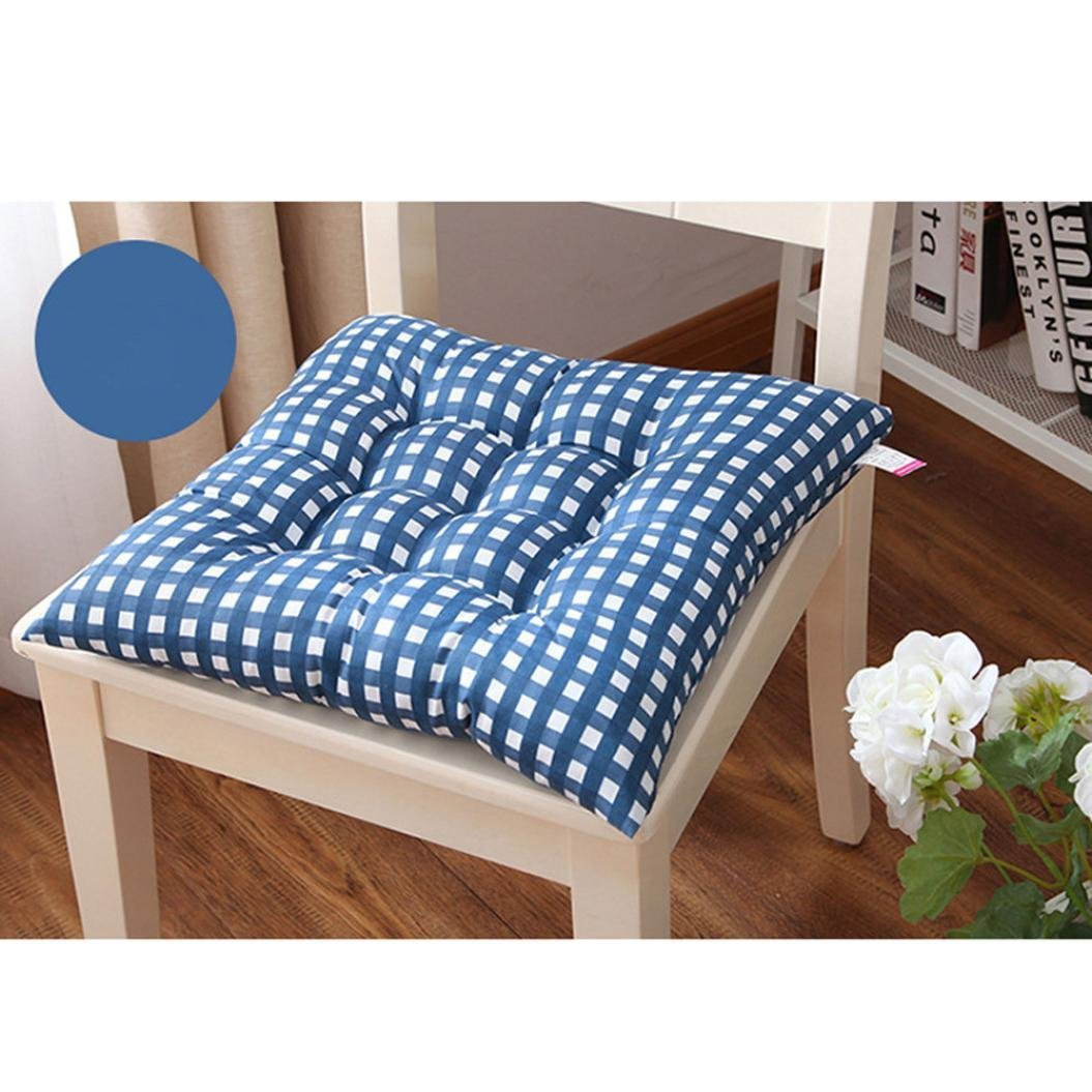 Get Quotations · DDLBiz Fashion Plaid Chair Cushion Indoor Home Kitchen  Office Chair Pads Seat Pads Cushion (Blue