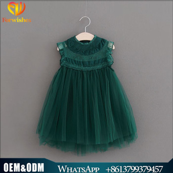Children Frocks Designs Green Heavy Princess Party Dress High Collar Cotton  Lace Tulle Kids Girl Spring Summer Flower Girl Dress - Buy Children ... f16424abb