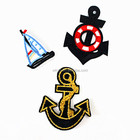 Lovely Sailing Ship Boat Embroidered Cloth Patch Custom Garment Appliques Accessory For Girls Boys