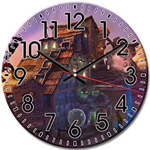 Arabic Numbers Disney Epic Mickey Quiet Silent Frameless Round Wall Clock Elegant 10 Inch / 25 cm Diameter