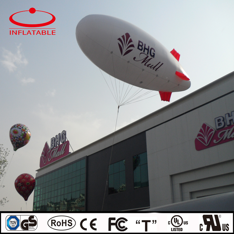 advertising PVC inflatable event helium floating airship balloon
