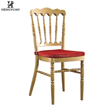 Modern cheap stacking metal hotel restaurant event rental wholesale napoleon chair gold