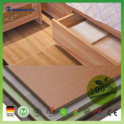 Eco friendly green melanine finished particle board