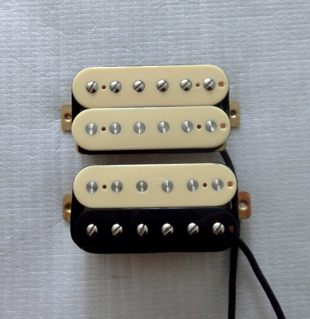 Best electric guitar pickup one set N/B Lp style chrome covered pickup Alnico V magnet single coil humbucker pickup