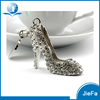 Custom shaped manufacture promotional metal rhinestone high-heel shoe key chain