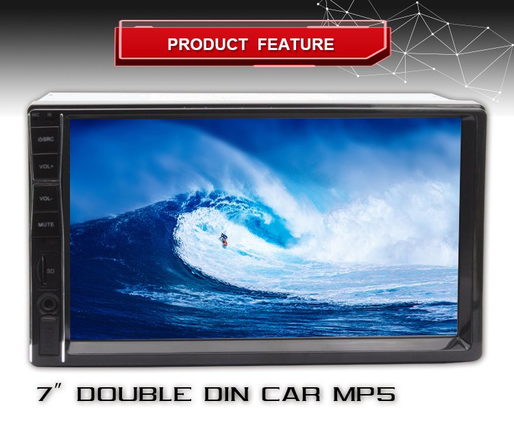 double din car video car mp3 player bluetooth car kit