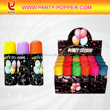 Factory Wholesale Silly String/Party String Spray/Color Party String