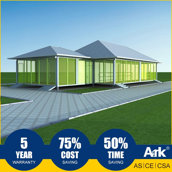 Ark Top Quality Good Price Long Lifespan Flatpack Prefabricated Steel Oil Field Golf Clubhouses and Pro Shops