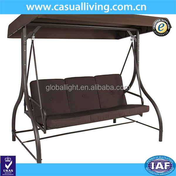 High quality 3 seat swing chair outdoor furniture for hot sale