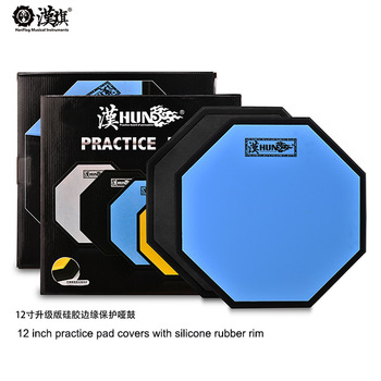 customized 12 inch Practice Drum Pad Training Pad cover with Silicone rubber rim