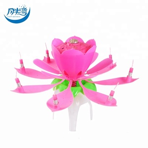 fireworks flower musical birthday candles